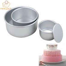 3 Многоуровневое круглый набор форм для торта Алюминий сплав Набор форм для выпечки тортов антипригарное выпечка кастрюли 4/6/8 дюймовый торты пресс форм съемное дно 386