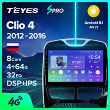 TEYES SPRO Per Renault Clio 4 BH98 KH98 2012 - 2016 Auto Radio Multimedia Video Player di Navigazione GPS Android 8.1 no 2din 2 din dvd(China)