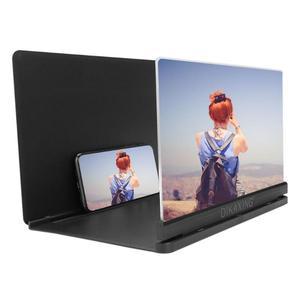 Soporte estereoscópico de 9 pulgadas para pantalla de teléfono móvil lupa plegable de escritorio, amplificador de pantalla para película de vídeo móvil, soporte agrandado