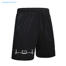 Livro impressão de batimentos cardíacos das mulheres calças de praia casual engraçado esportes shorts definir para a jovem senhora menina sweatpants navio da gota pant-410