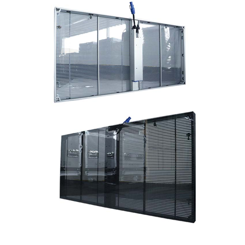 P3.91 Transparent Led Display Ultra Slim Indoor Transparency Led Mesh Screen