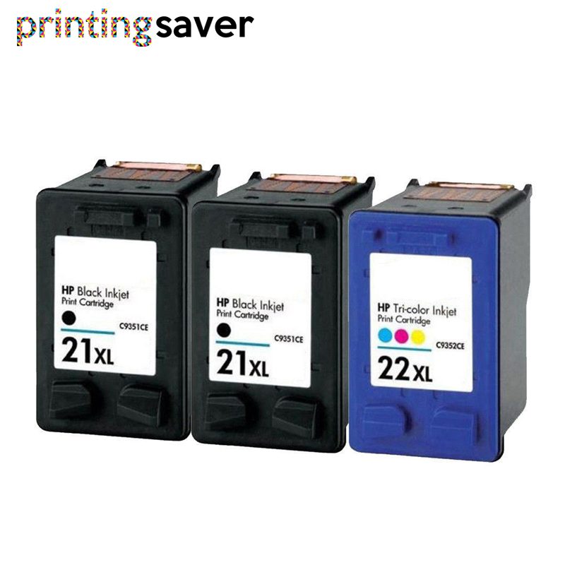 3x ink <font><b>cartridge</b></font> replacement For <font><b>HP</b></font> <font><b>21</b></font> <font><b>22</b></font> for <font><b>HP</b></font> 21xL 22XL Deskjet F300 F380 F2180 F2187 F2200 3910 3915 3918 3920 3940 D1530 image