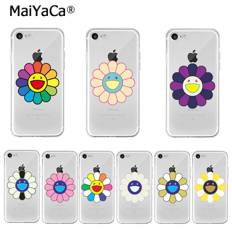 MaiYaCa takashi murakami flower Transparent Cover Case for iPhone 11 Pro XS MAX XR 8 7 6 6S Plus X 5 5S SE