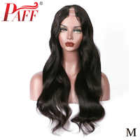 """PAFF U Part Human Hair Wigs For Women Body Wave 130%density Brazilian Remy Hair Middle Part 1*3 """"Natural Color Free shiping"""