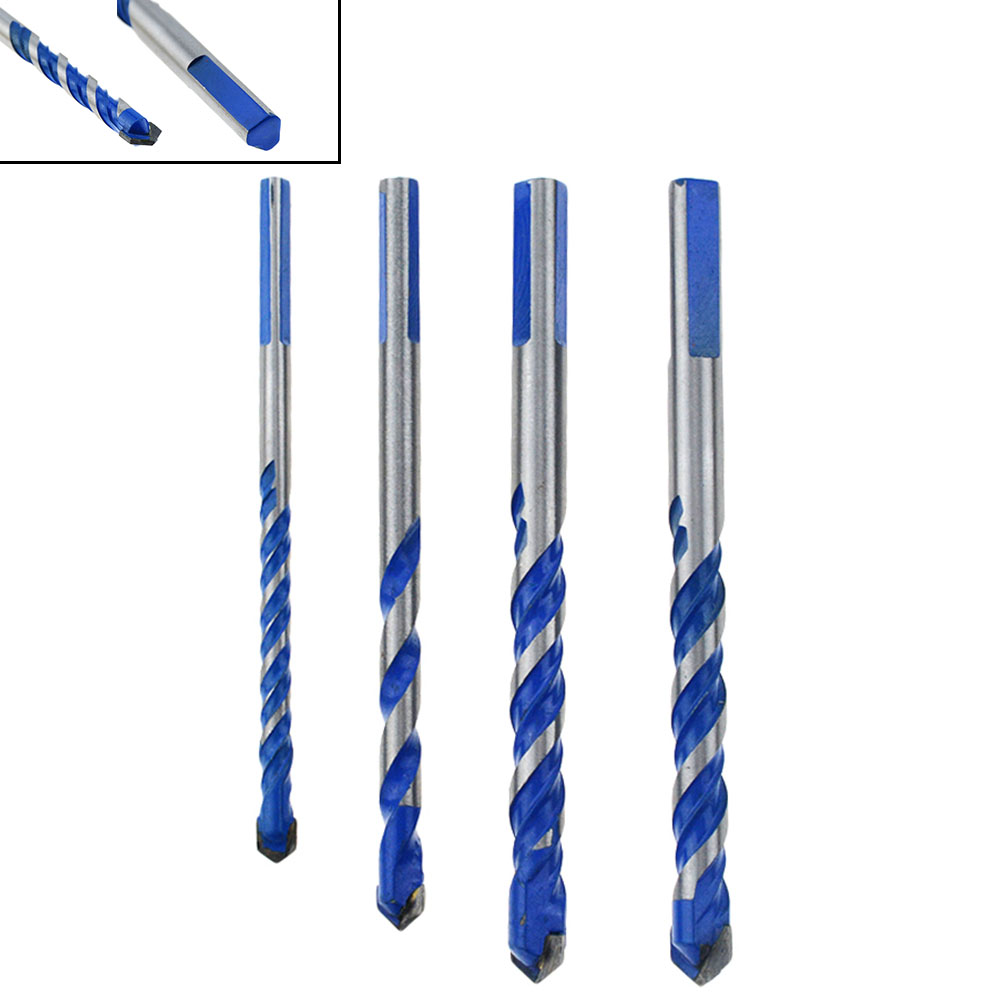1PCS Blue 6mm To 12mm Multifunctional Glass Drill Bit Twist Spade Drill Triangle Bits For Ceramic Tile Concrete Glass Marble