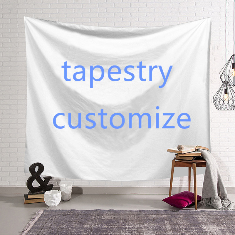 Creative DIY Design  Wall Hanging Tapestry Polyester Dormitory Family Bedroom Living Room Decor Yoga Mat Customize Tapestry