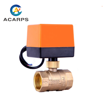1/2 3/4 1 2 Electric Ball Valve AC220V 3-wire 2-way Control Brass Thread Electric Ball Valve Stable Motorized Ball Valve motorized ball valve 3 4 dn20 ac220v 2 way stainless steel 304 electric ball valve cr03 wire