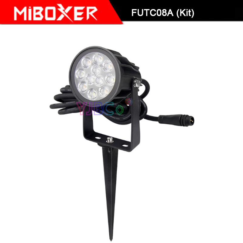 Miboxer FUTC08A 6W RGB+CCT LED Garden Light+DC24V 65W led Power Supply +Cable connector+FUT088 2.4G wireless Remote control - 5