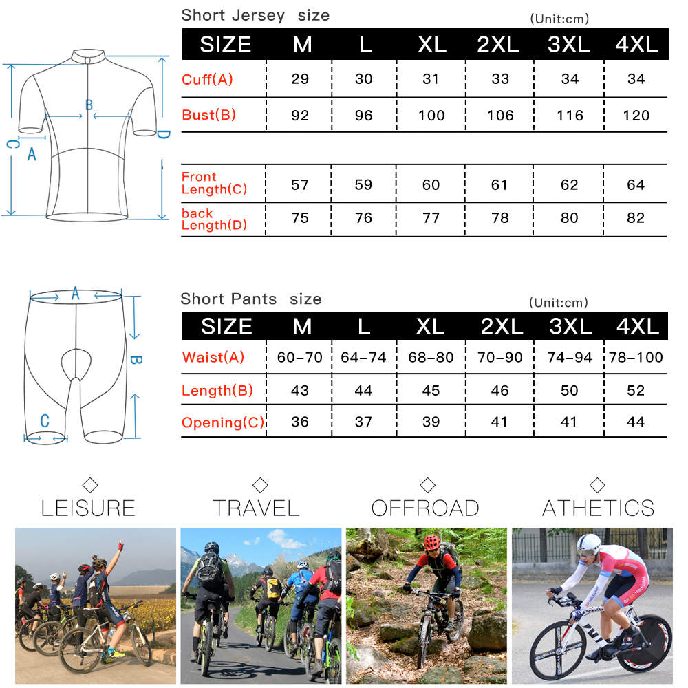Queshark Summer Cycling Jersey Breathale Mountain Bike Clothing Quick-Dry Racing MTB Bicycle Clothes Uniform Cycling Suit Set 6