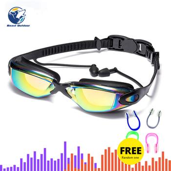 Okulary pływackie krótkowzroczność mężczyźni i kobiety przeciwmgielne profesjonalne wodoodporne silikonowe arena basen okulary pływackie dorosłe gogle pływackie tanie i dobre opinie WHITE Niebieski Pływać Żel krzemionkowy 2006