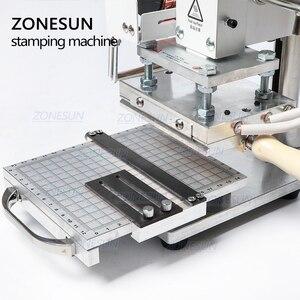 Image 4 - ZONESUN Nóng Viền Dập Máy Phong Tục Logo Slideable Bàn Làm Việc Da Dập Nổi Gel dụng cụ Gỗ PVC TỰ LÀM Ban Đầu