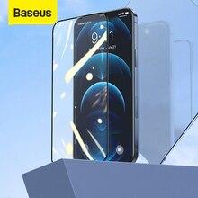 Baseus 2pcs מגן מזג זכוכית עבור iPhone 12 פרו 12 פרו מקס אנטי כחול Ray זכוכית מלא כיסוי מסך מגן זכוכית