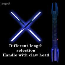 Pqbd sabre de luz cos adereços dupla-cabeça espada com efeito sonoro laser espada piscando duplo-afiado brinquedo da espada