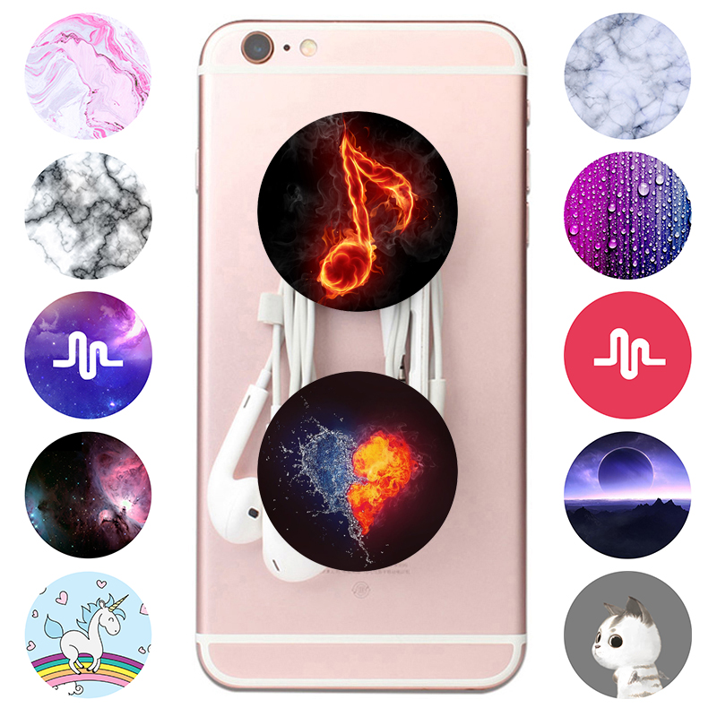 Hot Marble Popping Smartphones And Tablets Socket попсокет Small Mobile Phone Gadgets Gasbag Flexible Phone Holder Finger Stand