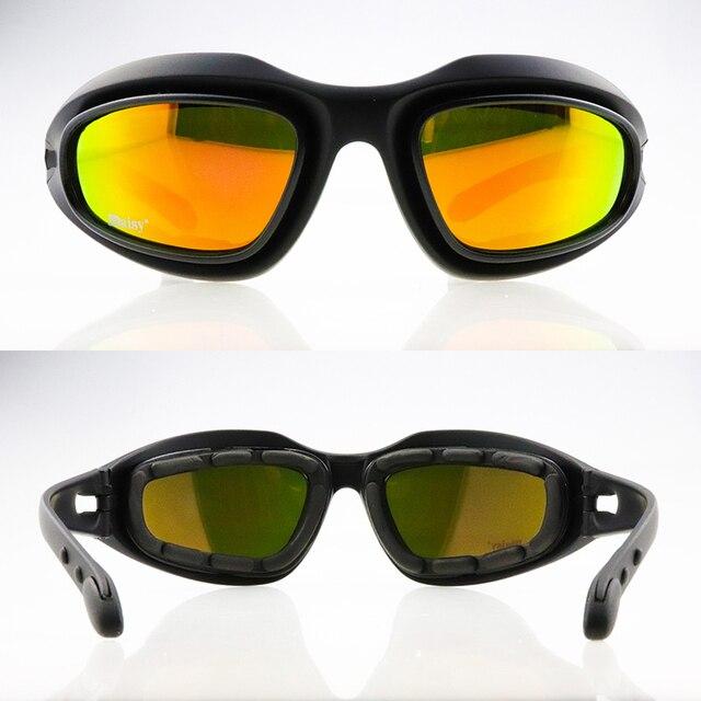 C5 polarizado óculos de proteção tático photochromic ciclismo uv400 airsoft óculos de segurança esportes ao ar livre óculos de sol 3