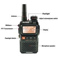 פלוס uv 2pcs Baofeng UV-3R + פלוס מיני מכשיר הקשר ניידת רדיו UHF VHF שני הדרך רדיו Comunicador Uv 3R Hf משדר radiotelefon (2)