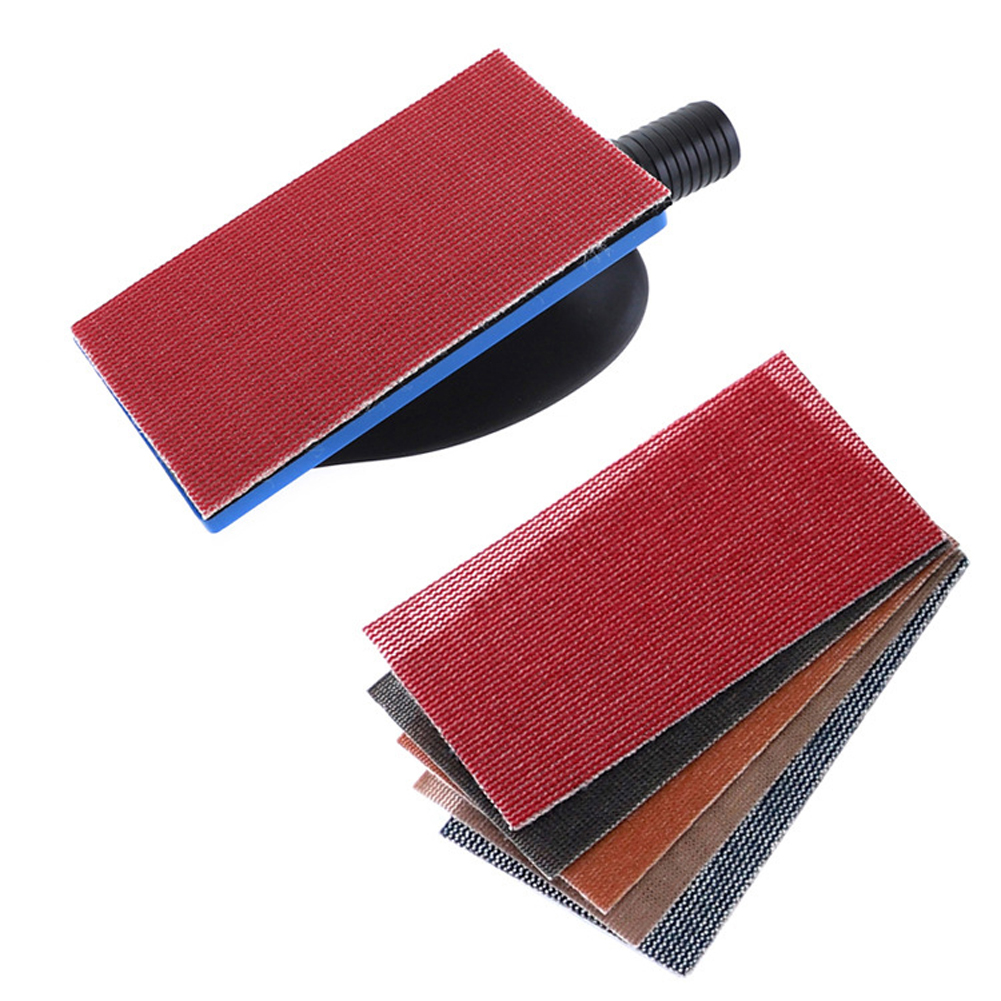 Vacuuming Hand Grinding Plate Dustless Grinder Vacuum Hand Push Plate Grinding Plate With Sandpaper Sheet Spray Paint Home Tools