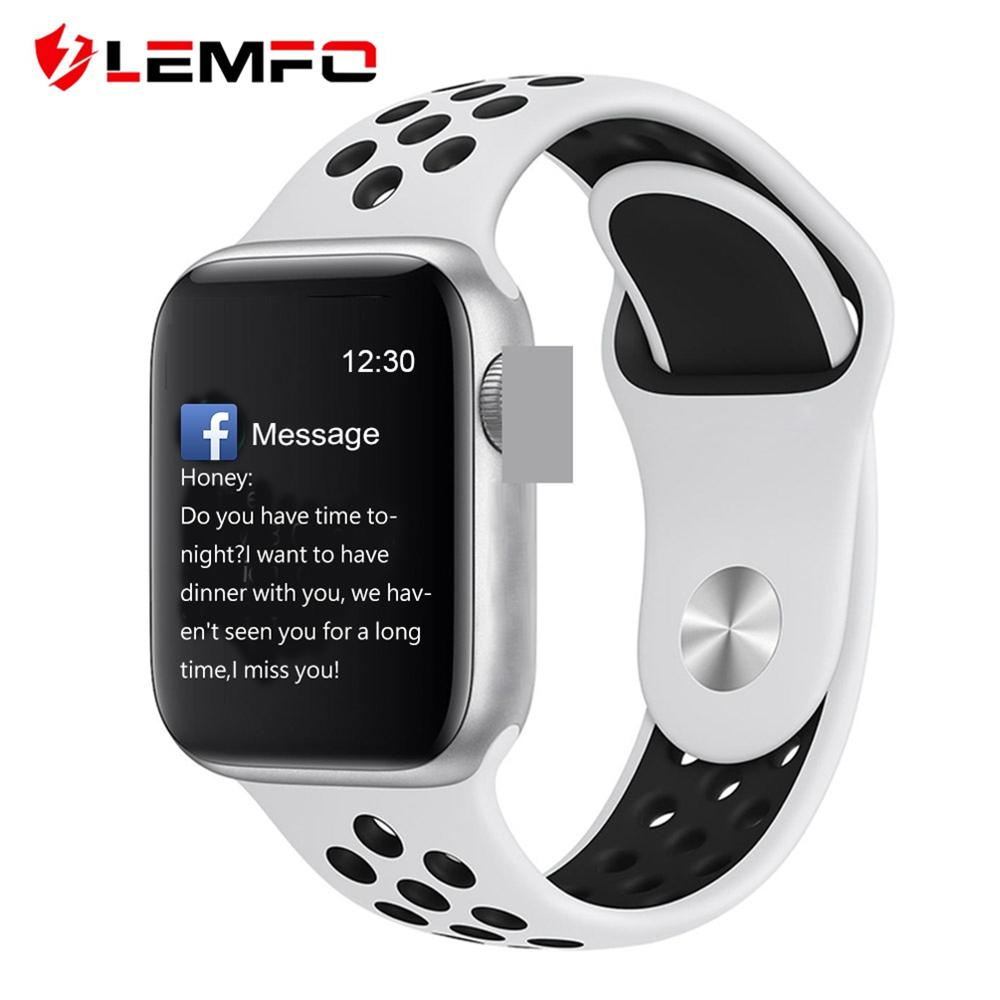 LEMFO 1.4inch Full Touch Screen Smart Watch Men For Apple Watch Android IOS Heart Rate Blood Pressure Monitor Smartwatch Men 1