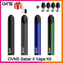 OVNS Saber II Kit de vapeo vapeador Original, 600mAh, sistema Pod, bobina de algodón, cigarrillo electrónico VS W01