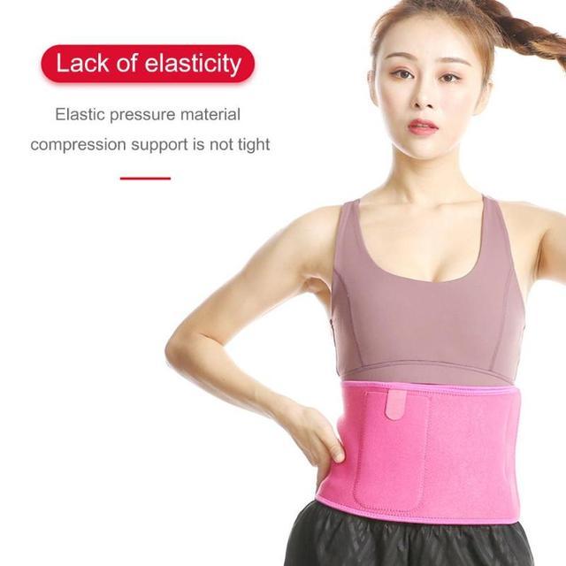 Pocket Fitness Waist Belt Exercise Neoprene Weight Loss Sweat Waistband Slimming Adjustable Gym Training Abdomen Lumbar Support 2