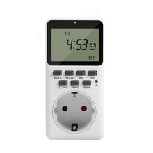 EU US UK Plug Kitchen Timer Electronic Digital Timer Switch Outlet Week 12/24 Hour Cyclic Program Timing Socket 20 group setting