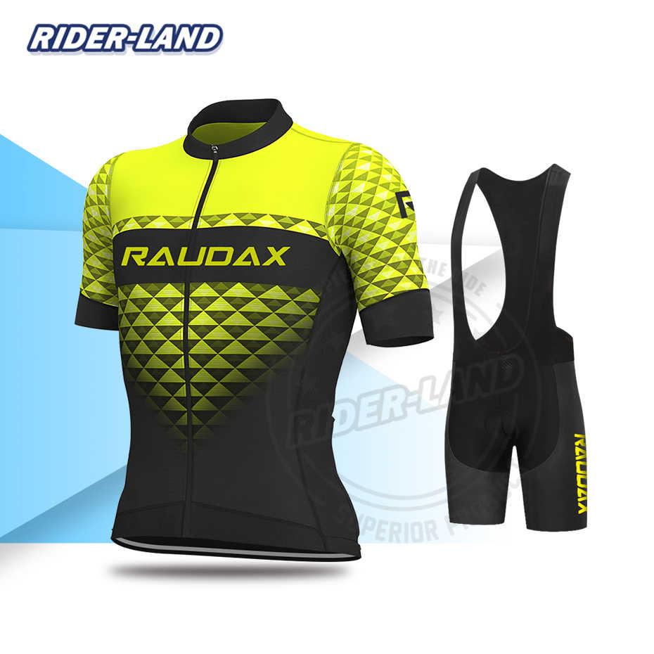Radfahren Kleidung Männer Kurzarm Jersey Sets Rennrad Uniform MTB Team Kleidung Triathlon Skinsuit Sommer Bike Atmungsaktive Tragen
