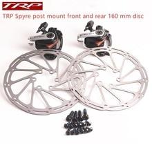 TRP Spyre post mount Vorne und Hinten Enthalten 160mm Center rotor rennrad fahrrad Legierung Mechanische Scheiben Bremse Set