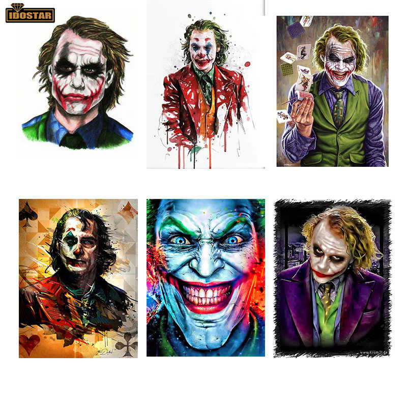5D FAI DA TE Pittura Diamante joker Punto Croce Mosaico The Dark Knight Immagine piazza piena di Diamante Del Ricamo di Strass decorazioni per la casa