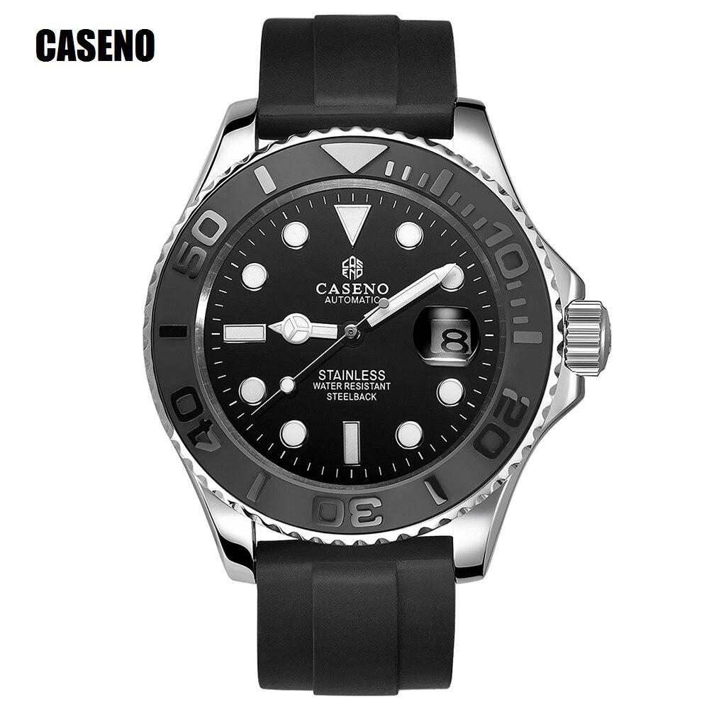 Автоматические механические часы для мужчин, Топ люксовый бренд Мужские часы черный керамический наружный кольцо золото нержавеющая сталь