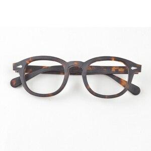 Image 1 - جوني ديب نظارات الرجال النظارات البصرية الإطار النساء العلامة التجارية تصميم خلات خمر الكمبيوتر النظارات جودة عالية Z088