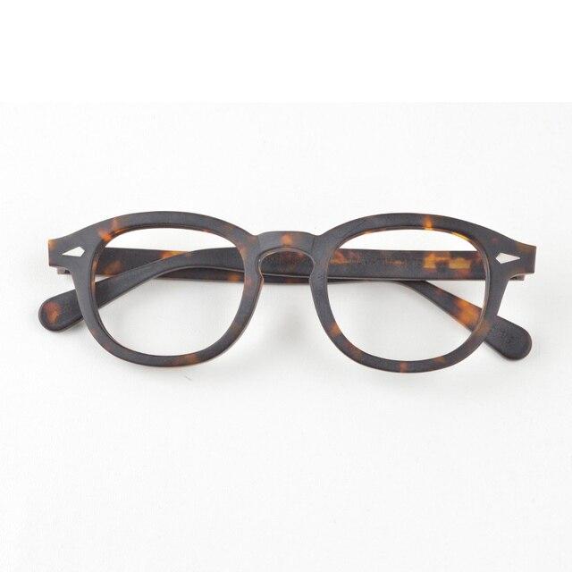 جوني ديب نظارات الرجال النظارات البصرية الإطار النساء العلامة التجارية تصميم خلات خمر الكمبيوتر النظارات جودة عالية Z088