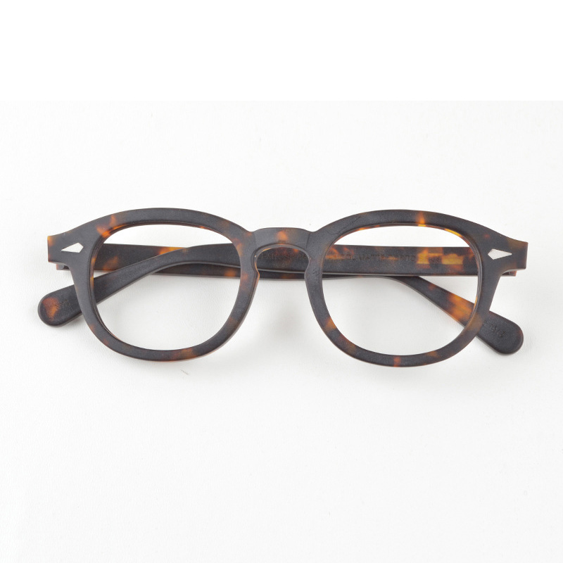 Johnny Depp Glasses Men Optical Glasses Frame Women Brand Design Acetate Vintage Computer Eyeglasses Top quality Z088|Men