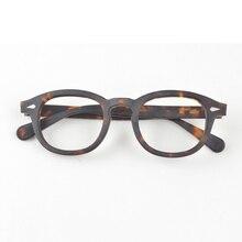 Johnny Depp gözlük erkekler optik gözlük çerçeve kadınlar marka tasarım asetat Vintage bilgisayar gözlük en kaliteli Z088