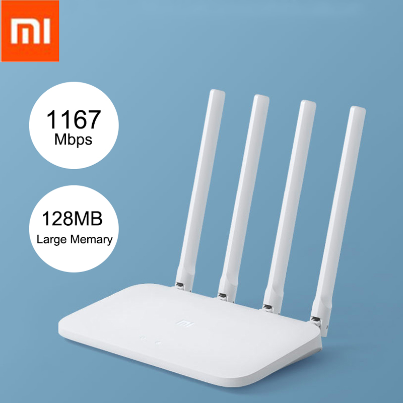 4-Wifi Repeater Router Control Gigabit 5ghz-802.11ac Dual-Band Xiaomi Four-Antennas-App