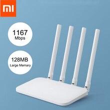 Xiaomi Mi WIFI Router 4 WiFi Repeater 1167Mbps Dual Band 2.4G 5Ghz 802.11AC Four Antennas APP Control Gigabit Wireless Router беспроводной маршрутизатор xiaomi mi wifi router 3g v 2 без usb 802 11abgnac 1167mbps 2 4 ггц 5 ггц 2xlan бел