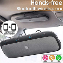 Tz900 sem fio bluetooth handsfree chamando carro kit speakerphone áudio música alto-falante para smartphones sun visor multiponto