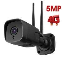 HD 1080P 5MP Bullet 3G 4G Camera Wireless GSM SIM Card Outdoor Waterproof Two Way Audio CCTV Camera Night Vision 20M P2P CamH
