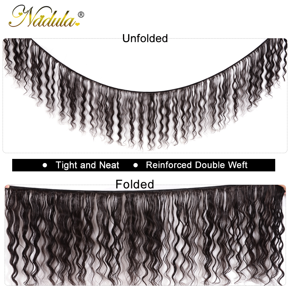Image 2 - Nadula Hair Malaysian Natural Wave Bundles With Closure 100% Human Hair With 4*4 Lace Closure Free Part Natural Color Remy Hair-in 3/4 Bundles with Closure from Hair Extensions & Wigs