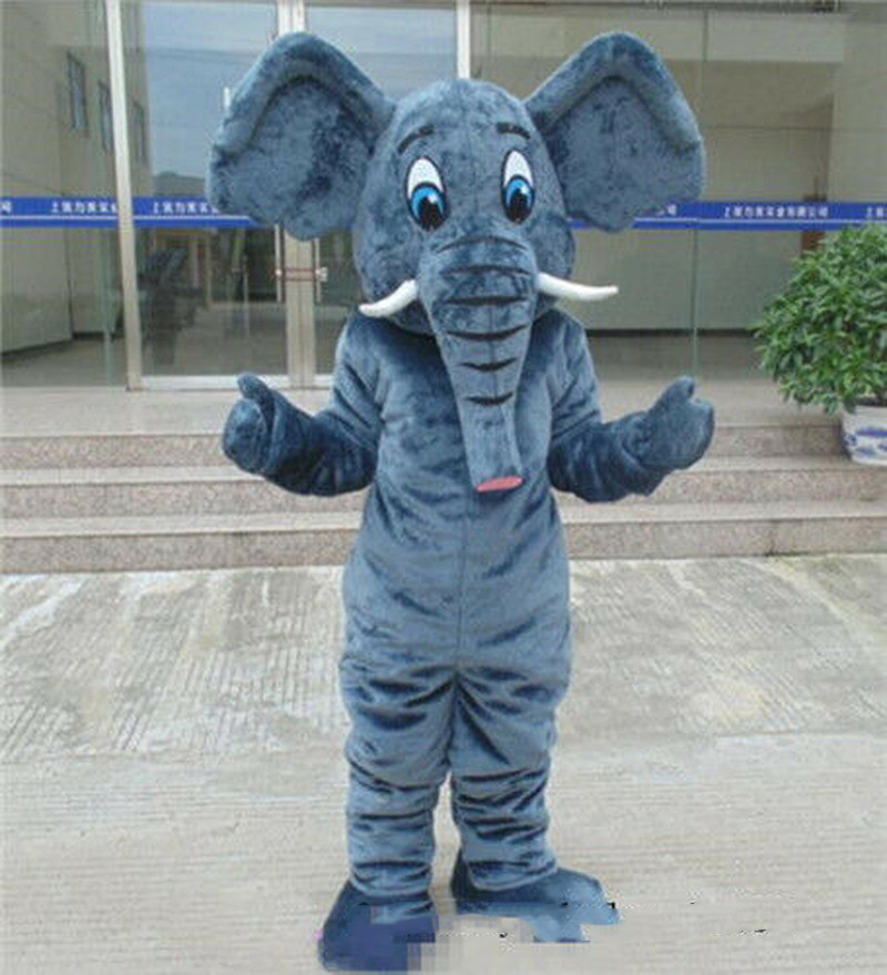 Suit Free-Post Mascot Costume Dress Outfit Halloween Birthday-Party Factory Elephant