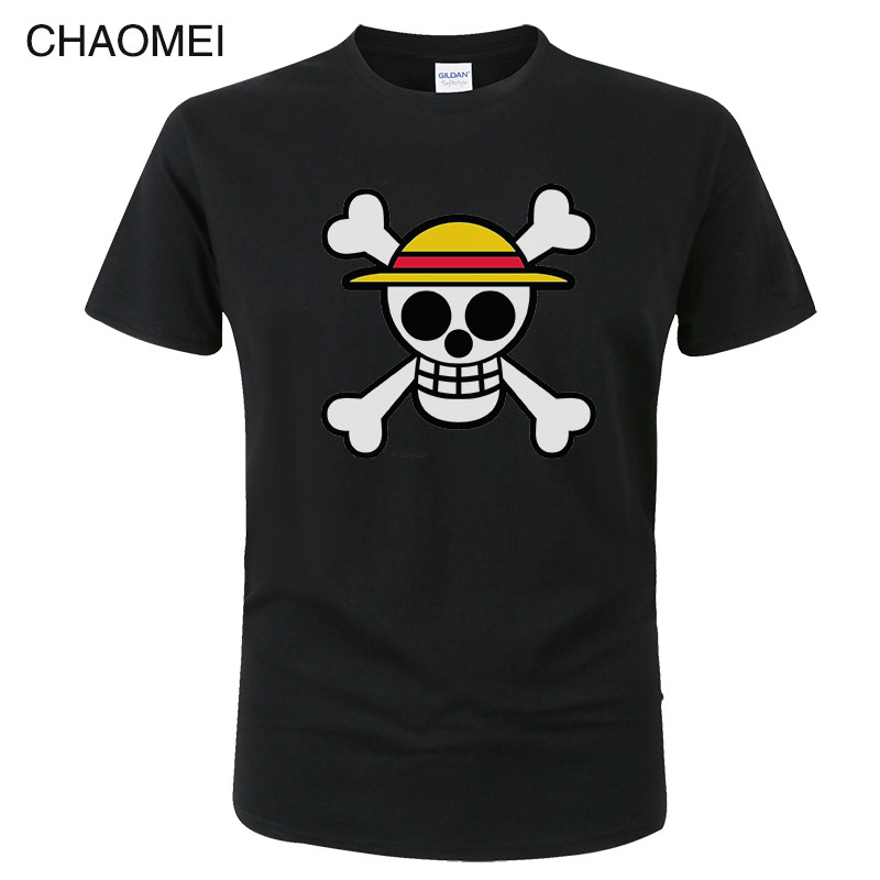 2019 Summer Men's One Piece Luffy T Shirt Harajuku Funny Cotton T Shirts Unisex Cotton Workout Tshirts Anime Tops Tees C119