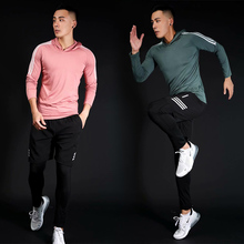 2019 New Compression Workout Fitness Running Set Sportswear Tight Mens Leggings T-shirt Demix Gym Sport Suit