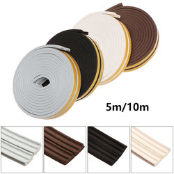 5M/10M Seal Strip Window Door Soundproof Anti Collision Dustproof Self Adhesive Rubber Foam Weatherstrip Sealed Collision Strip