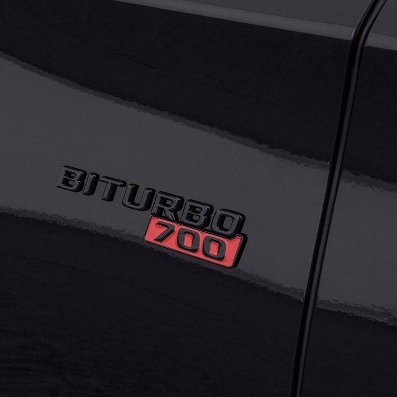 2 шт. черный 700/800 боковина крыла Стикеры для Mercedes BRABUS W463 W461 W212 W205 W204 G63 G65 G700 G800 700 800 Стикеры металла