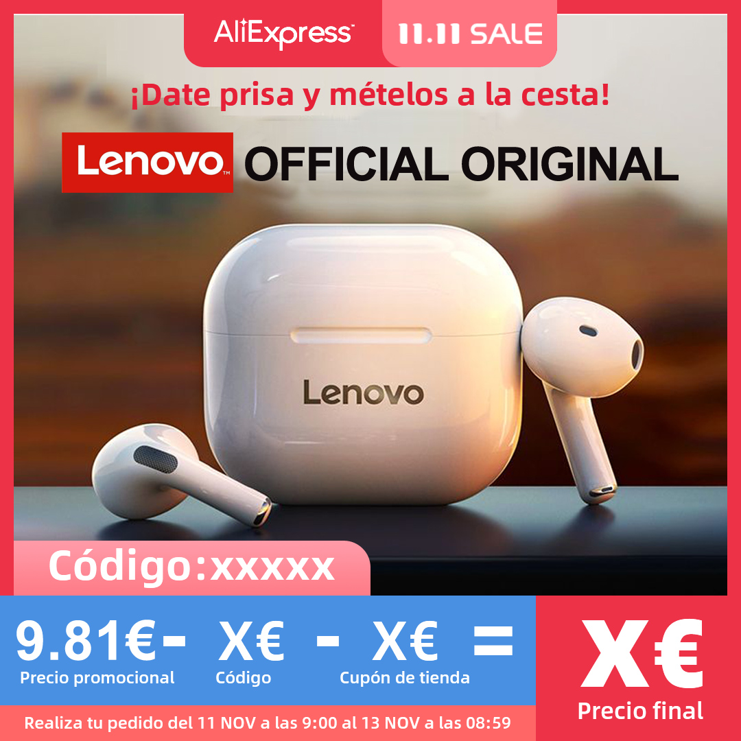 NEW Original Lenovo LP40 TWS Wireless Earphone Bluetooth 5.0 Dual Stereo Noise Reduction Bass Touch Control Long Standby 230mAH