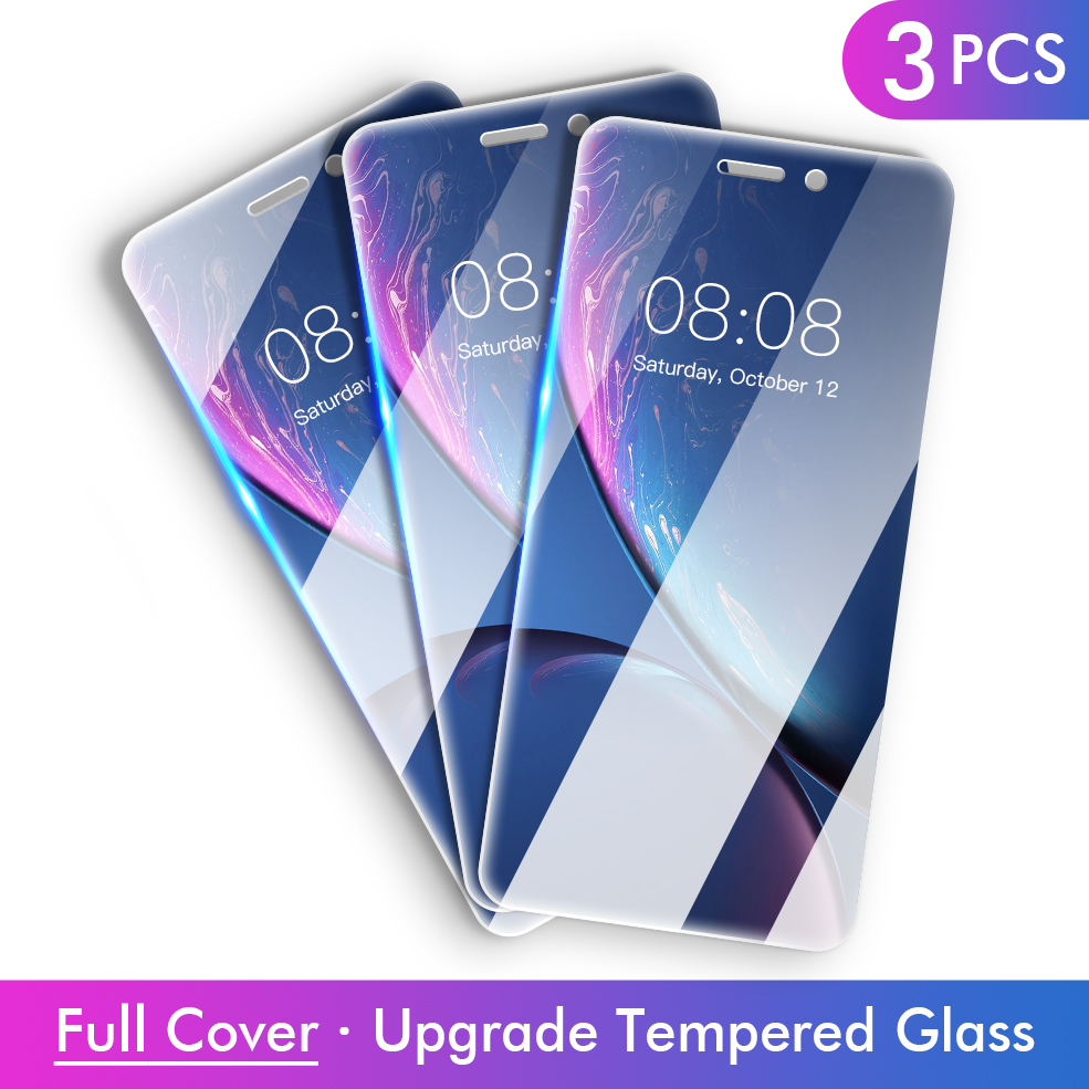 Full Cover Glass  For IPhone 6 6S 7 8 Plus X XS Max XR 11 Pro HD Anti-Burst Tempered Glass Screen Protector