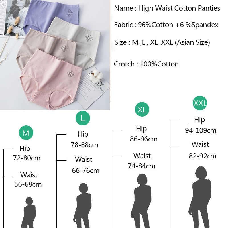 LANGSHA 4 pièces taille haute culottes femmes respirant sous-vêtements en coton dames confort sans couture slips Sexy filles minceur Lingerie