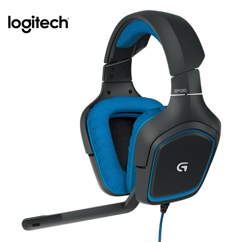 Logitech G430 USB Проводная 7,1 Регулируемая гарнитура с шумоподавлением профессиональная игровая гарнитура с высоким качеством|Наушники и гарнитуры|   | АлиЭкспресс