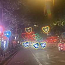 Lunettes de soleil à effets en forme de cœur pour femmes, montre les lumières changent en forme de cœur la nuit, à la mode