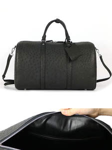 Duffle-Bag Handbags Luggage Travel Hold-All Super-Capacity Real Ostrich-Skin Genuine