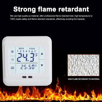 Home Thermoregulator Floor Electric Heating System Temperature Controller Touch Screen Heating Thermostat For Warm lcd touch screen smart wifi big digital temperature thermostat touch screen warm floor heat controller thermostat